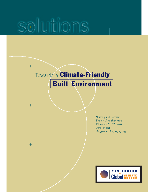 Towards a Climate-Friendly Built Environment | Center for ...