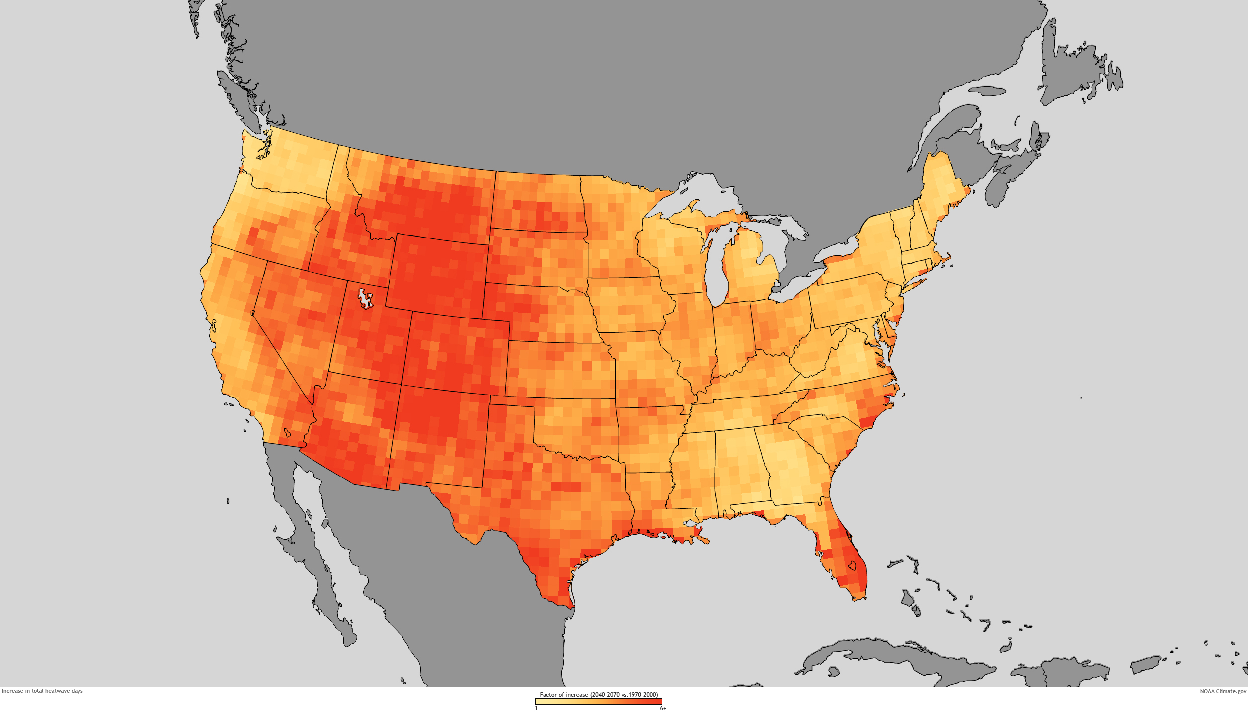 Thermal Map Of The World.Heat Waves And Climate Change Center For Climate And Energy Solutions